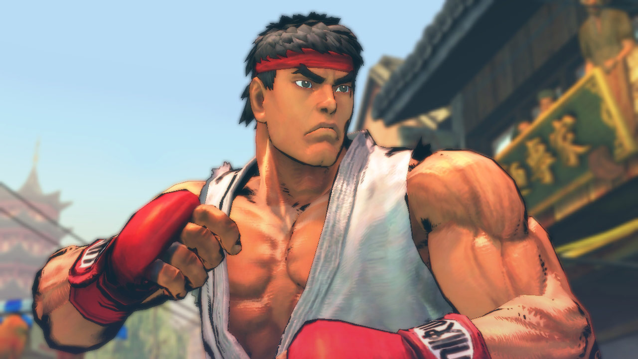 PC Street Fighter IV screen shot in sumi-e mode
