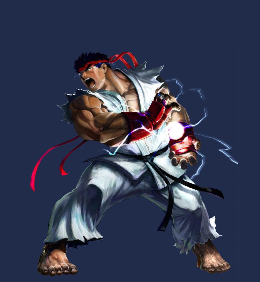 Marvel vs. Capcom 2 Ryu artwork by Udon