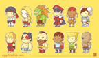 Scribblenauts styled Street Fighter 2 artwork