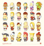 Scribblenauts styled Street Fighter 4 artwork