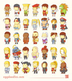 Scribblenauts styled Street Fighter Alpha artwork