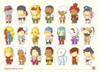 Scribblenauts styled Street Fighter 3 artwork