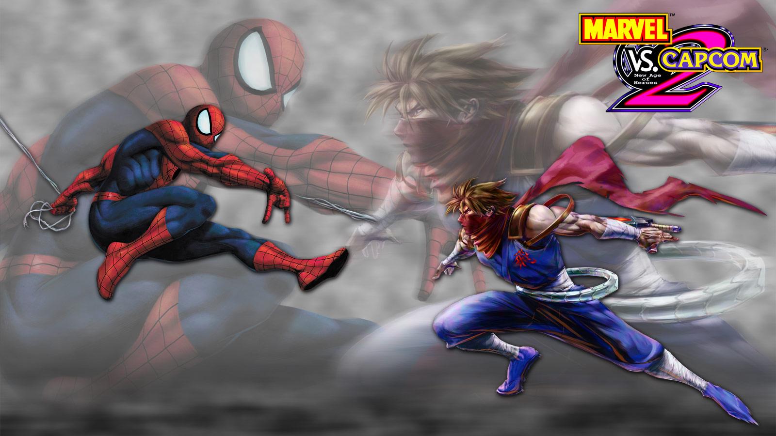 Marvel vs. Capcom 2 artwork, Spider-Man vs. Strider