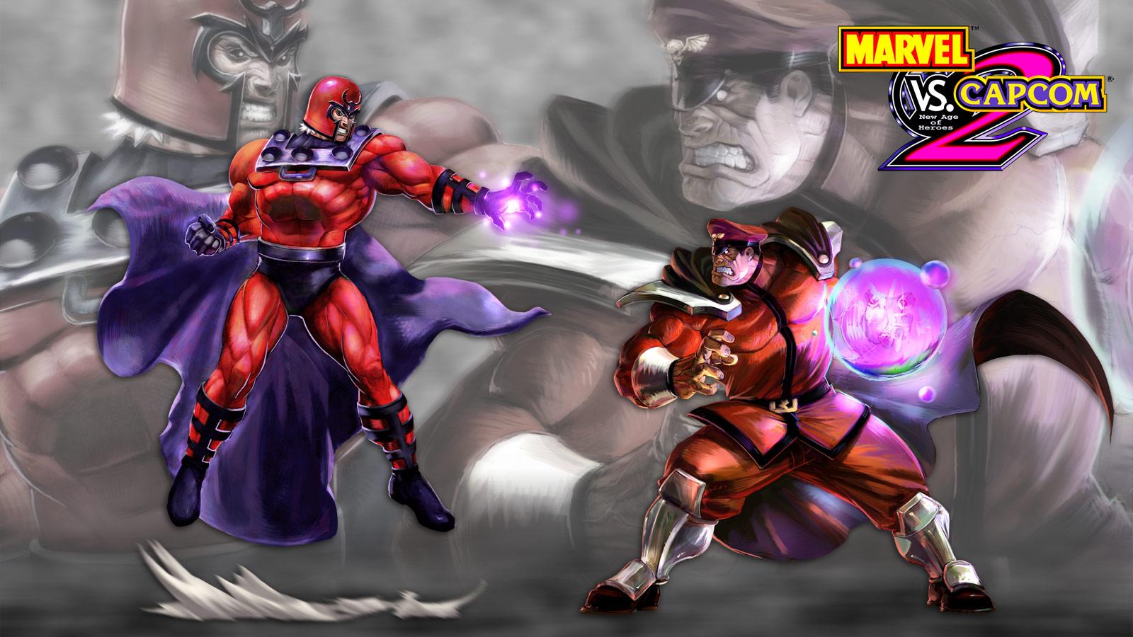 Marvel vs. Capcom 2 artwork, M. Bison vs. Magneto