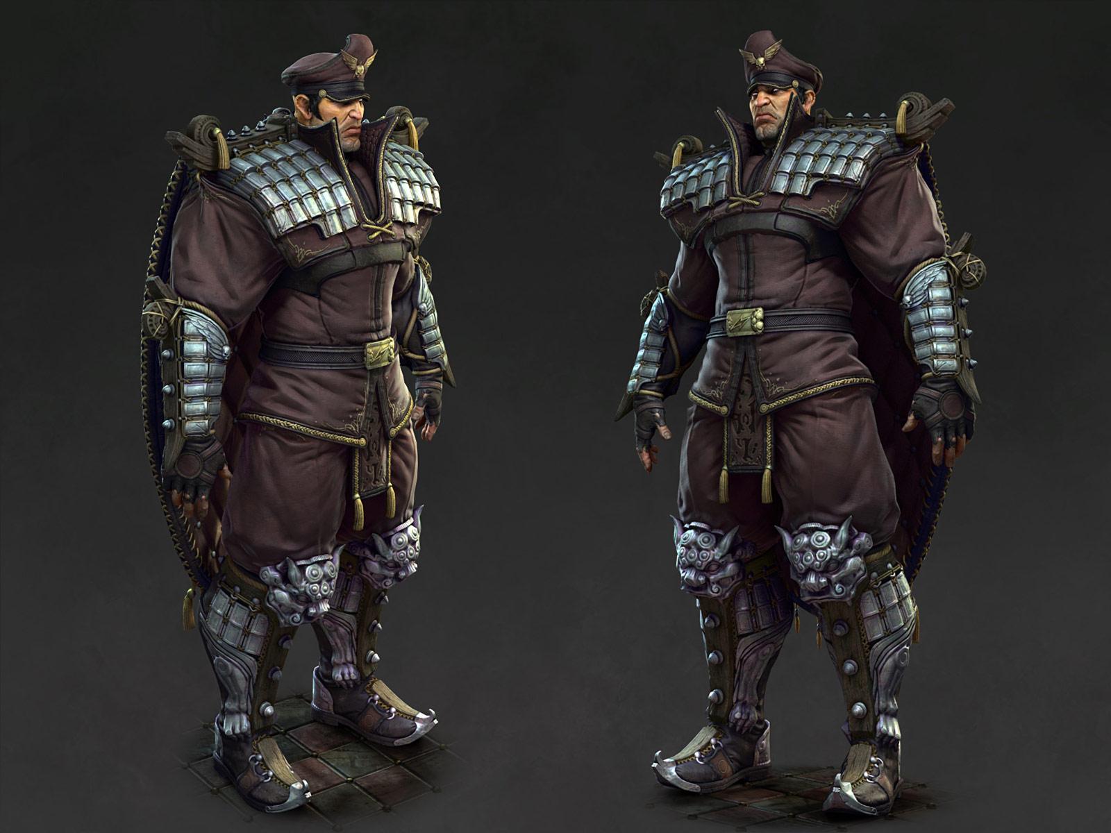 3D rendering of M. Bison #2