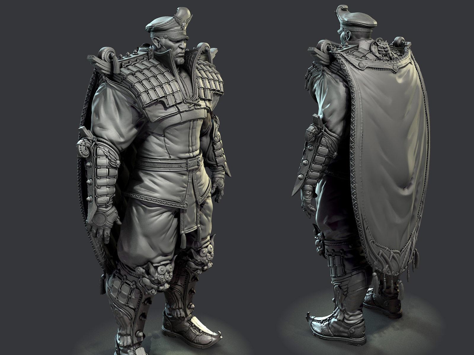 3D rendering of M. Bison #3