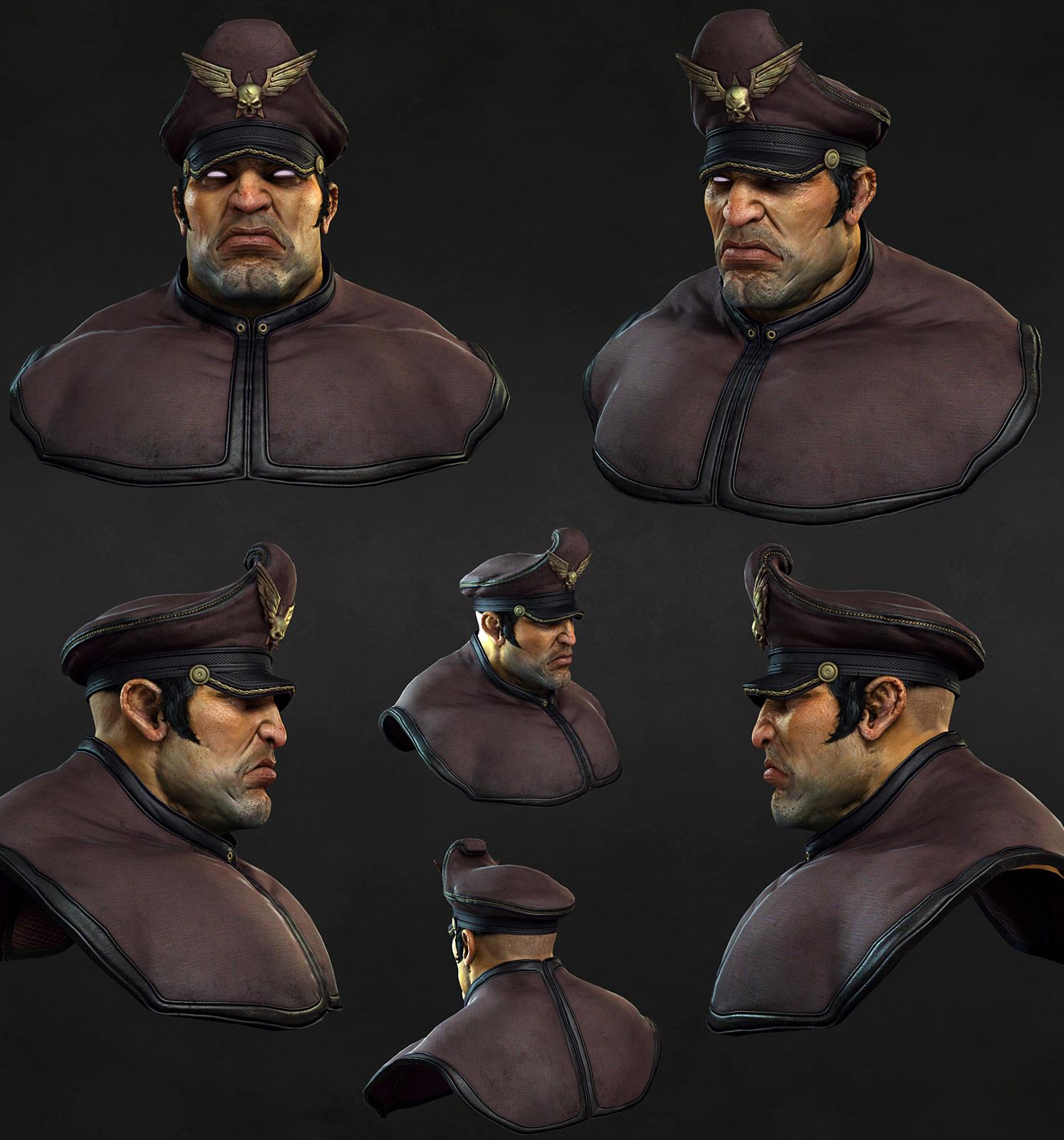 3D rendering of M. Bison #7