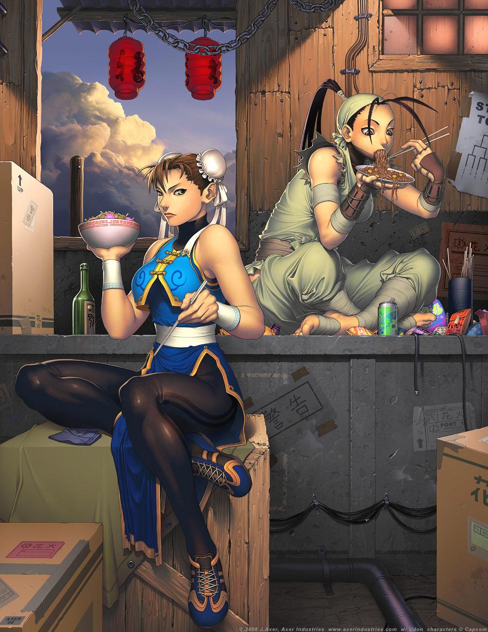 Chun-Li and Ibuki from the Street Fighter Tribute Art Book
