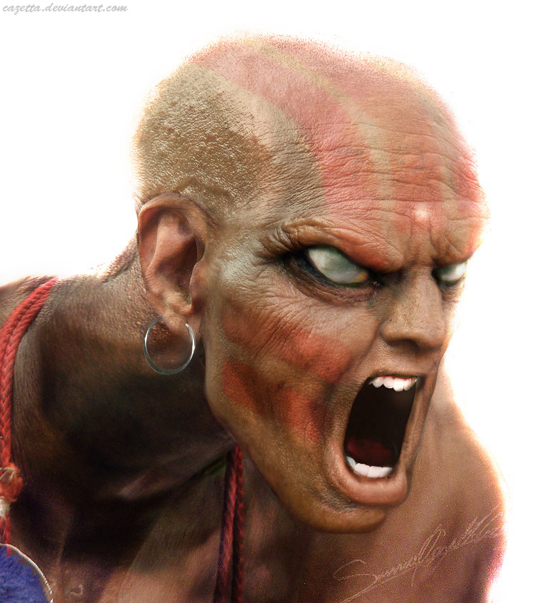 Realistic Street Fighter artwork for Dhalsim