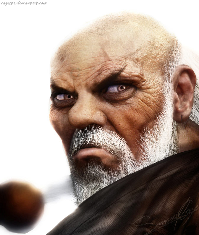 Realistic Street Fighter artwork for Gouken