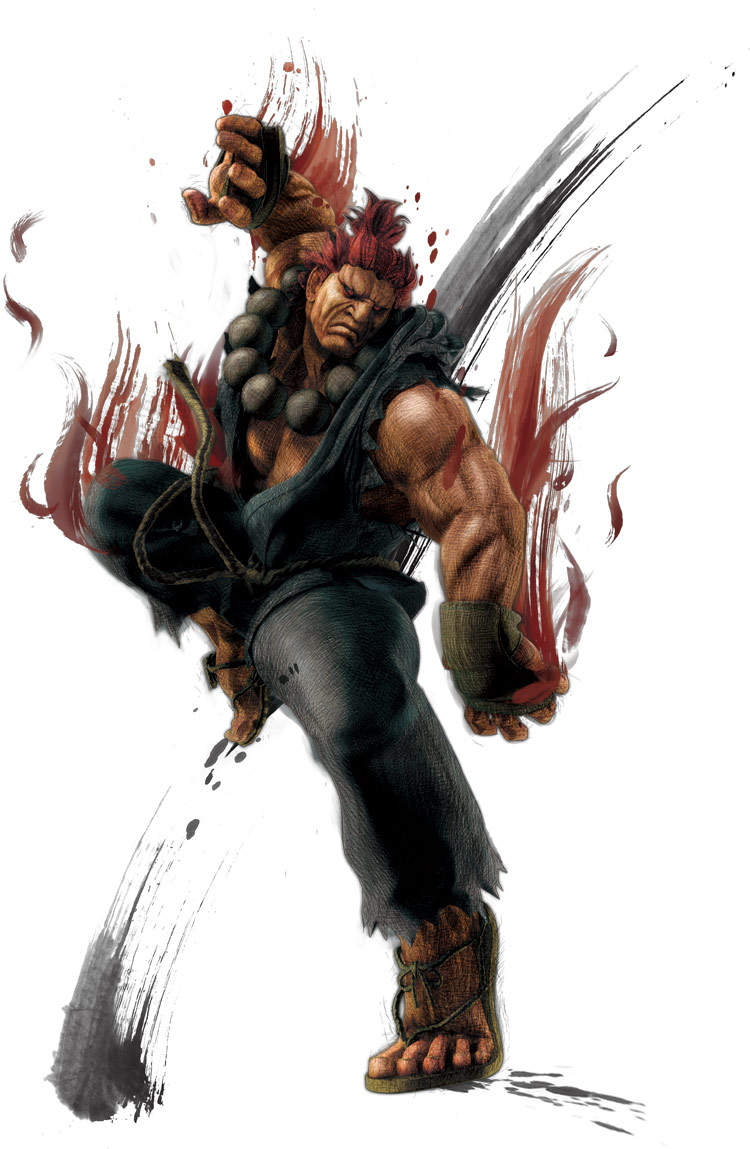 Akuma's artwork for Super Street Fighter 4