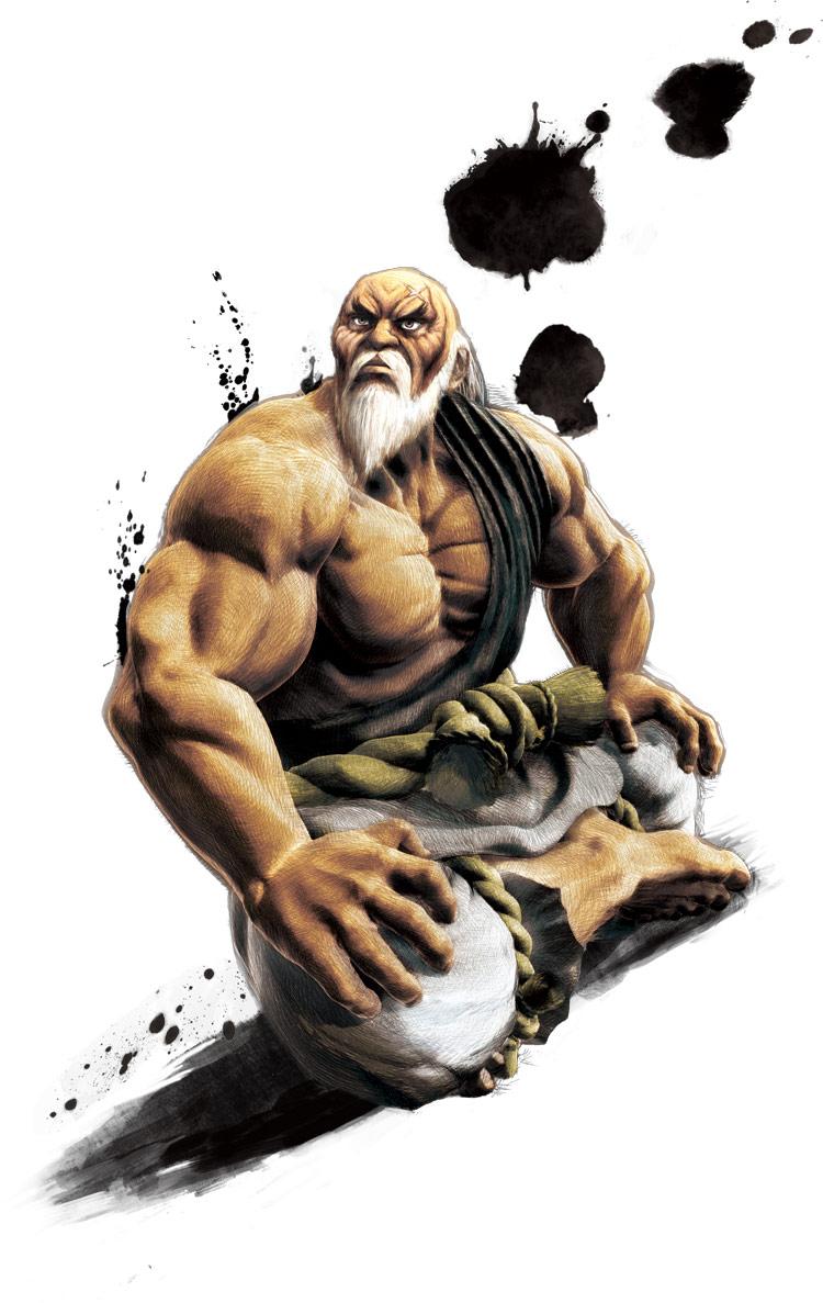 Gouken's artwork for Super Street Fighter 4