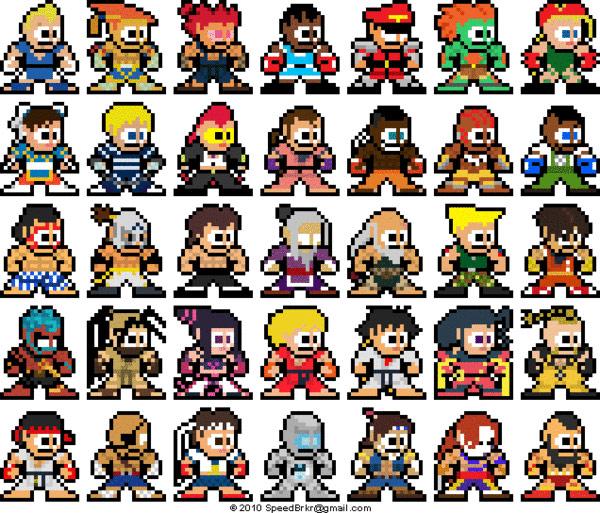 8 Bit style Super Street Fighter 4 art
