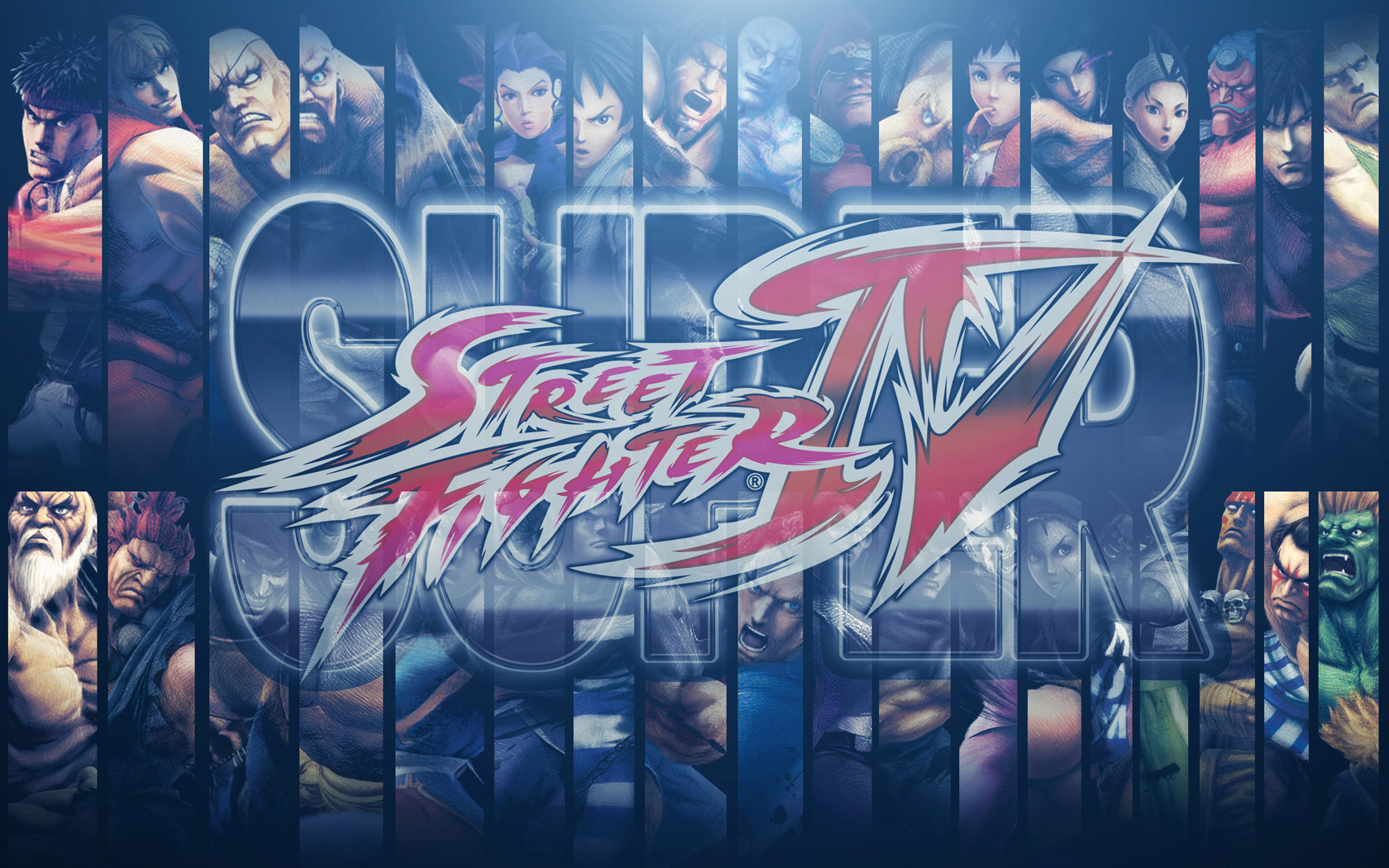 Super Street Fighter 4 wallpaper collage by BossLogic