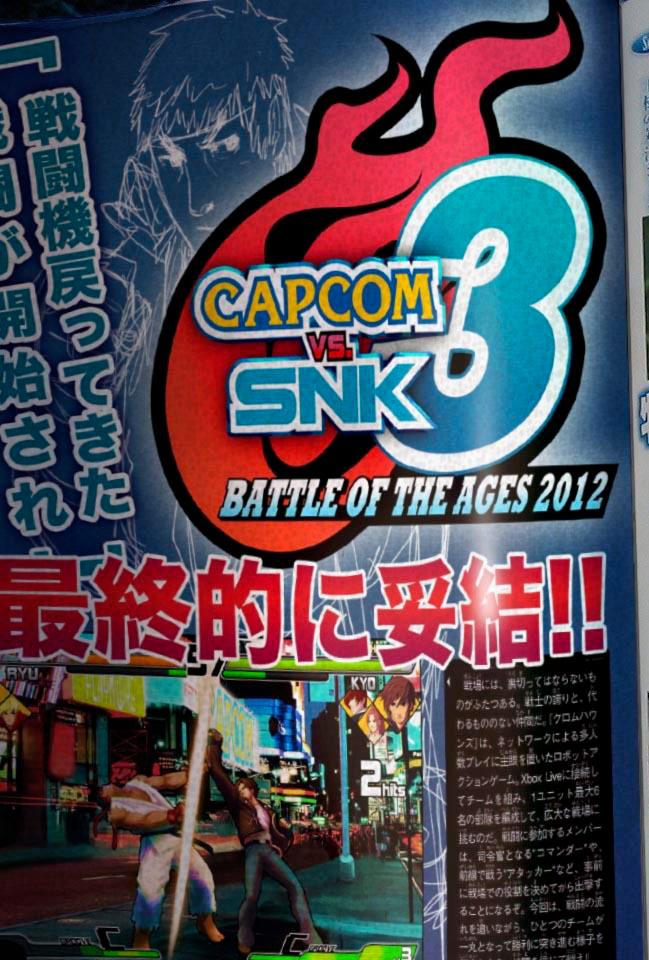 Possible April Fool's joke showing CvS3 in Famitsu magazine
