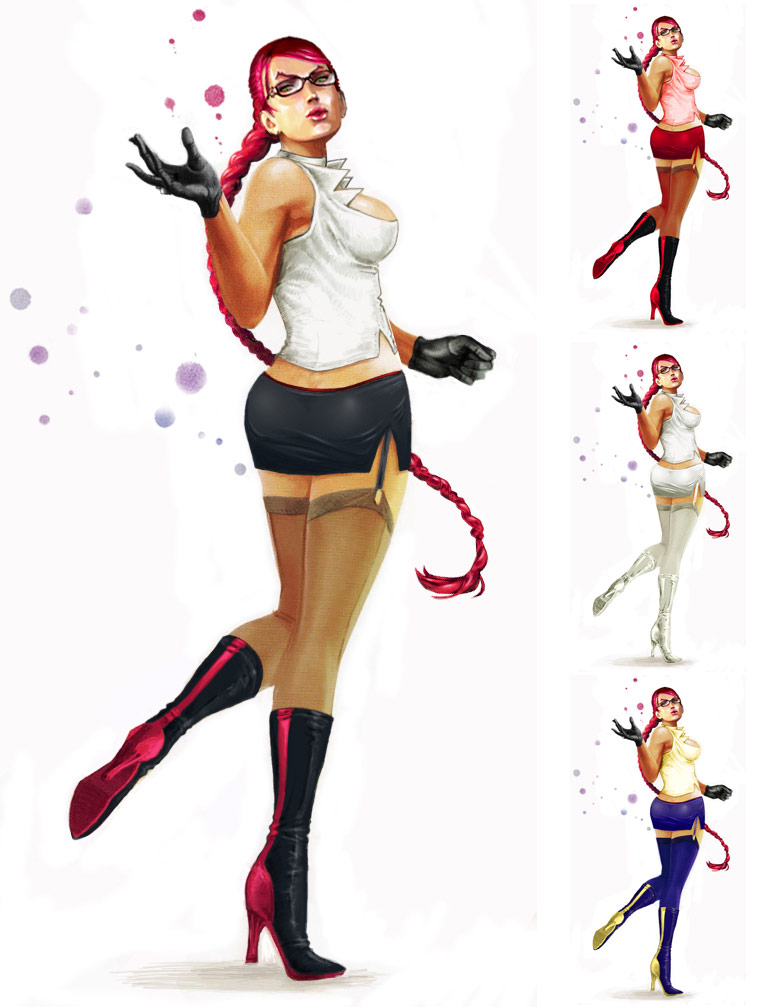 C. Viper remixed Street Fighter 4 artwork by KAiWAi