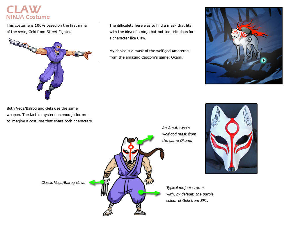 Vega (Claw) remixed Street Fighter 4 artwork explanation by KAiWAi