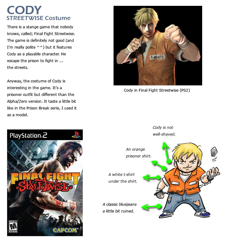 Cody remixed Street Fighter 4 artwork explanation by KAiWAi