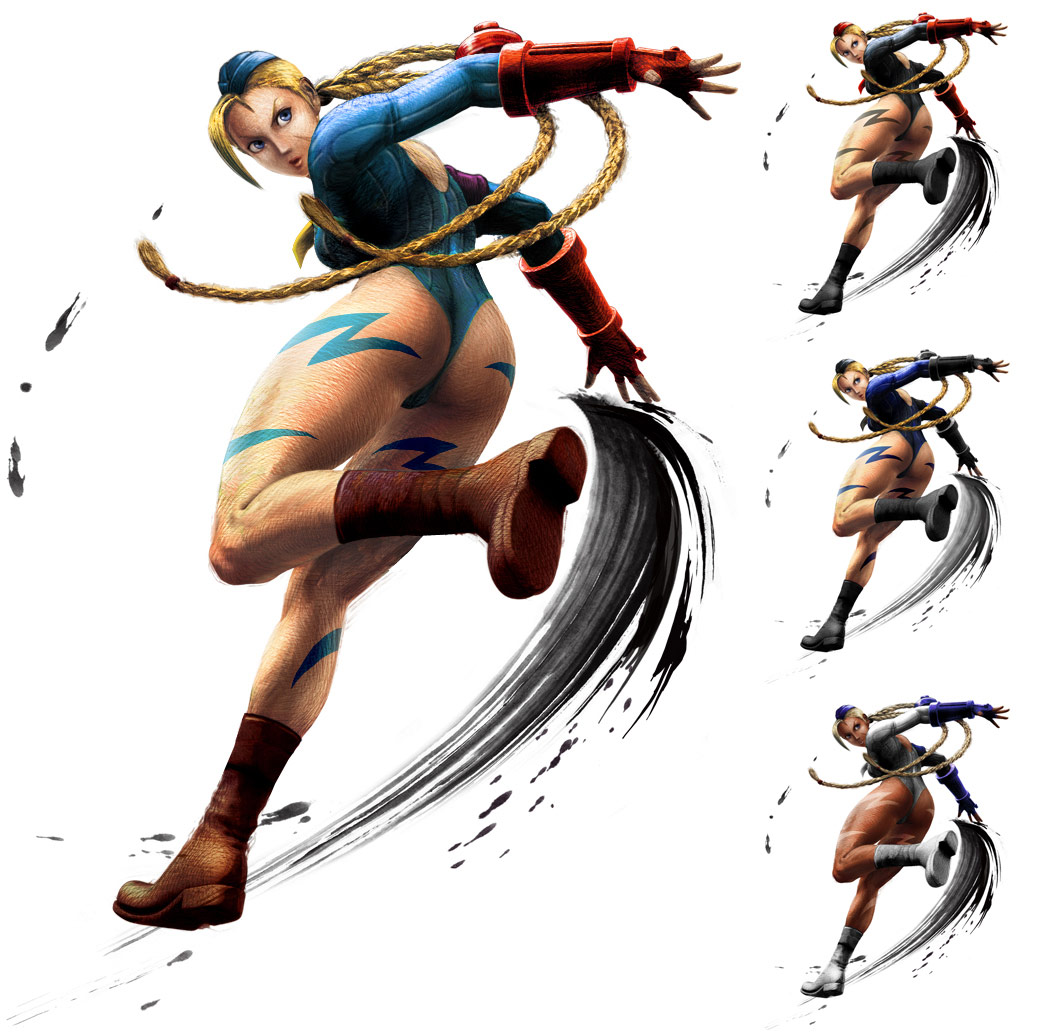 Cammy remixed Street Fighter 4 artwork by KAiWAi