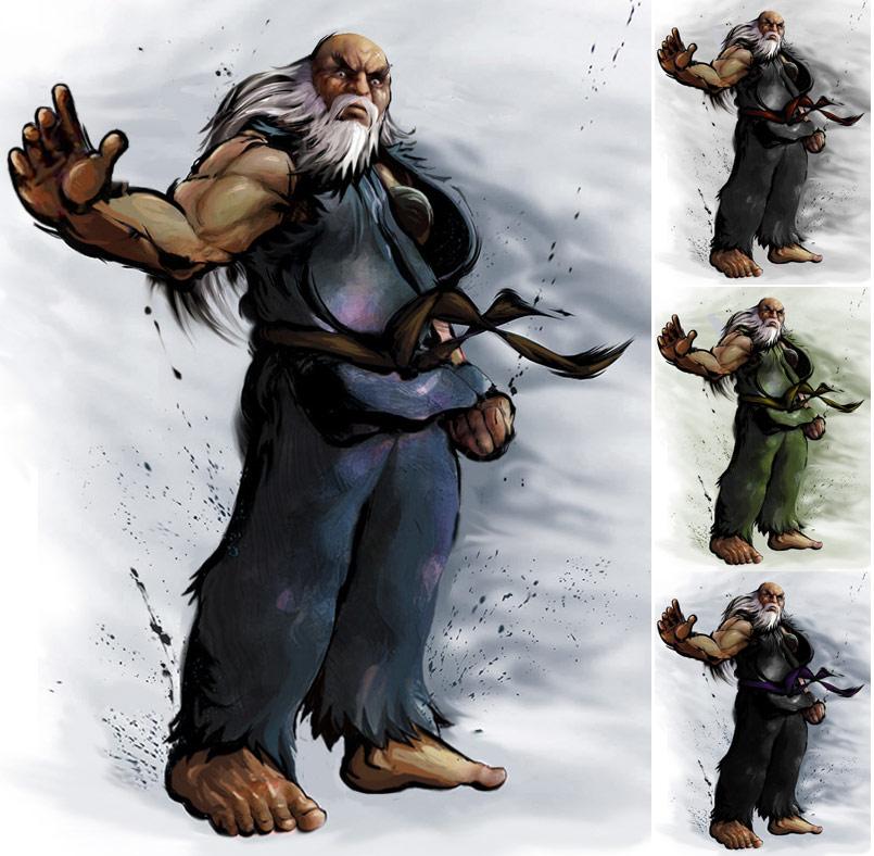 Gouken remixed Street Fighter 4 artwork by KAiWAi