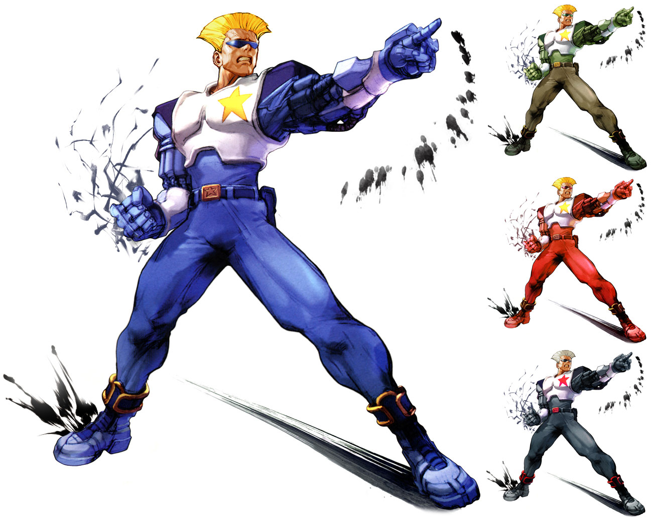 Guile remixed Street Fighter 4 artwork by KAiWAi