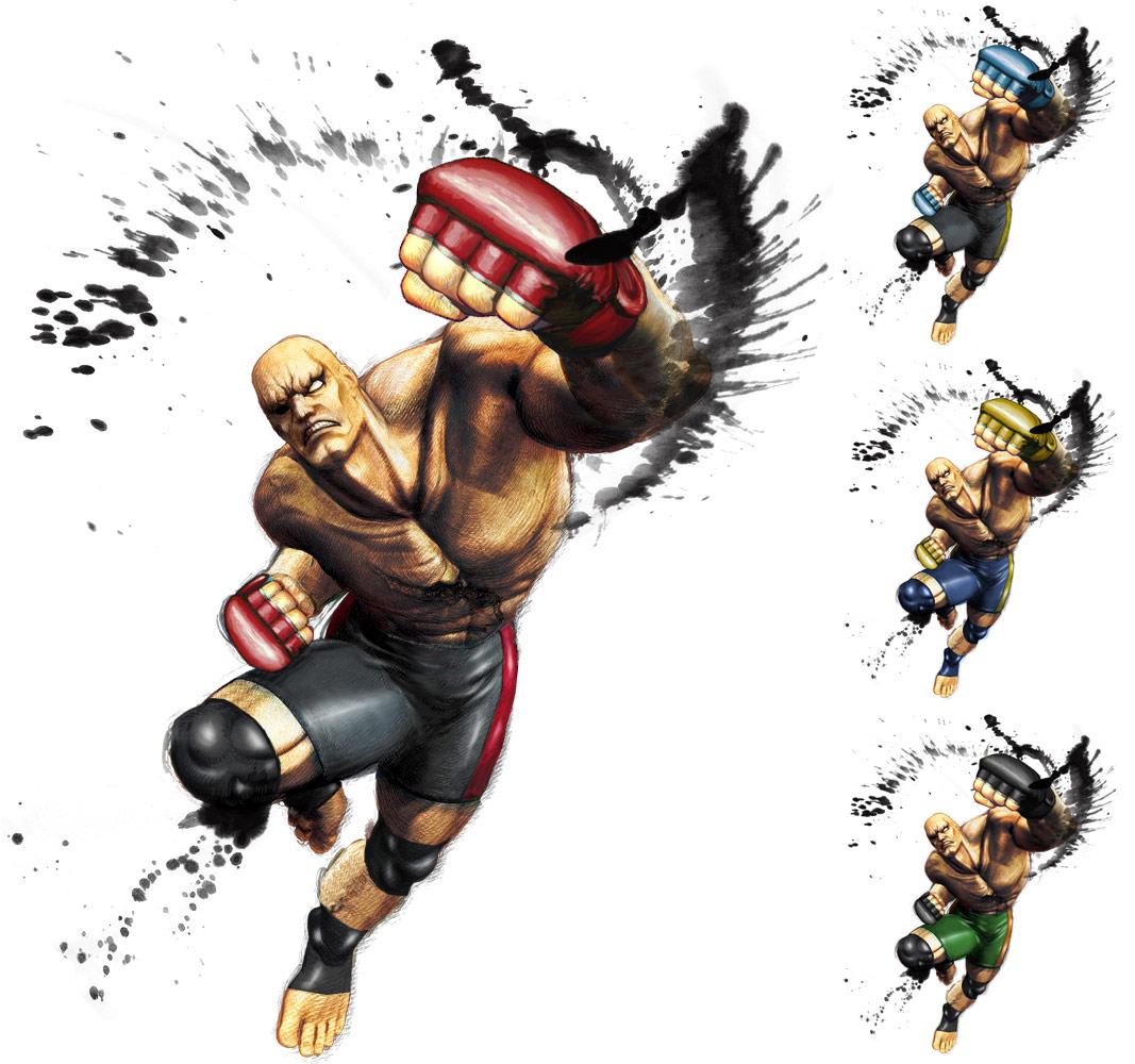 Sagat remixed Street Fighter 4 artwork by KAiWAi