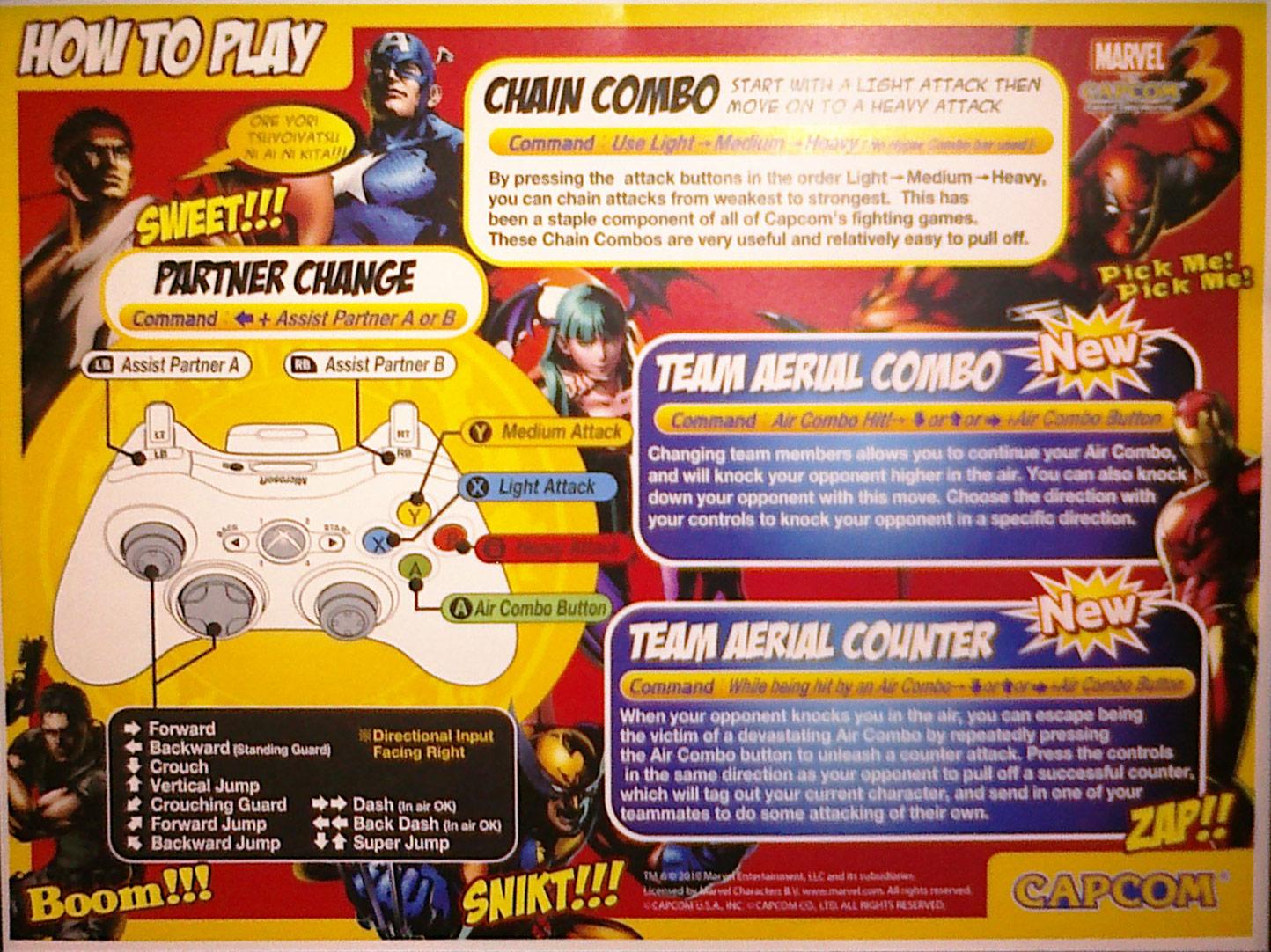 Marvel vs. Capcom 3 control explanation