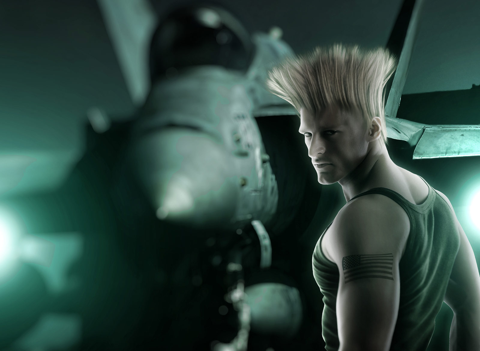 Hyper real Guile artwork