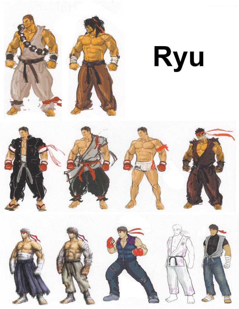 Street Fighter 4 alternative costume concept sketch #25