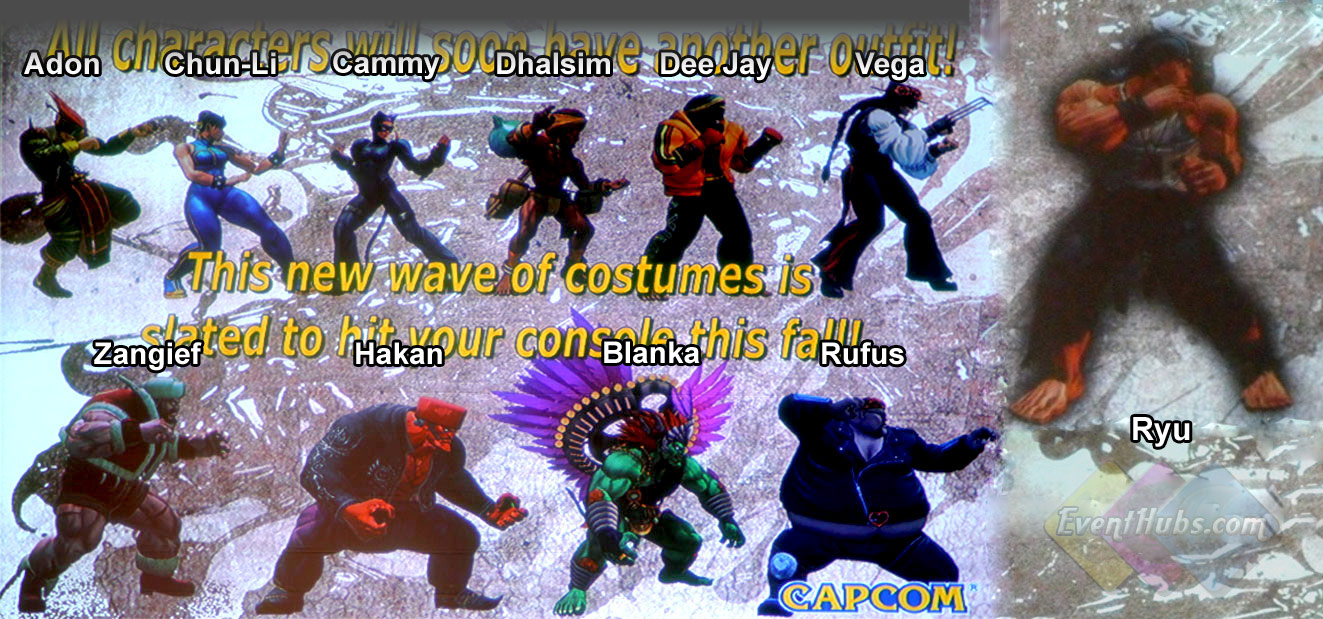 New alternative outfits being added to Super Street Fighter 4 in fall 2010