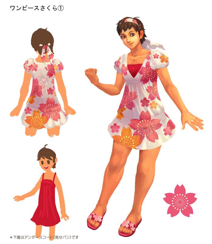 Concept art for Sakura's alternative outfit in Super Street Fighter 4