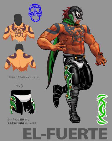 Concept artwork for El Fuerte's new alternative costume in Super Street Fighter 4
