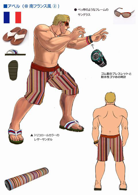 Concept artwork for Abel's new alternative costume in Super Street Fighter 4