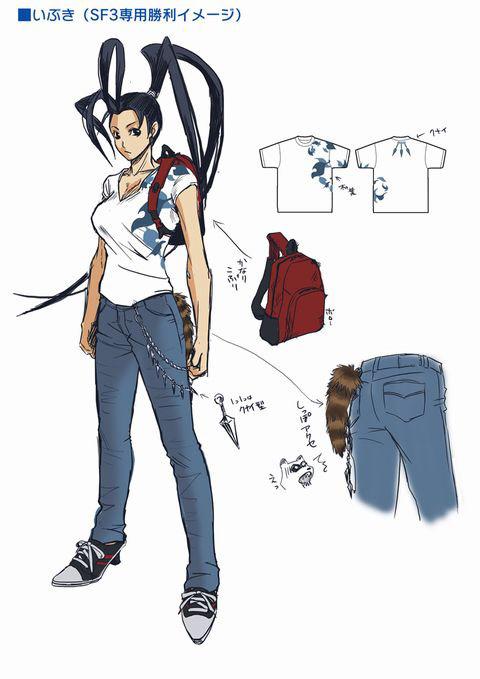 Concept artwork for Ibuki's new alternative costume in Super Street Fighter 4