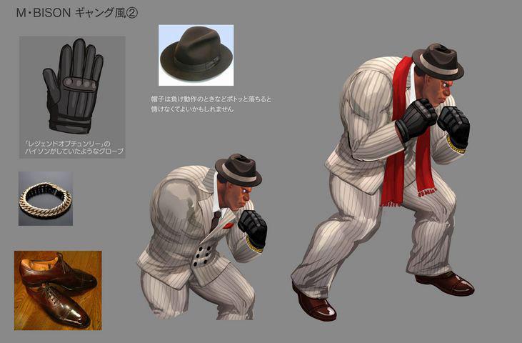 Concept artwork for Balrog's new alternative costume in Super Street Fighter 4