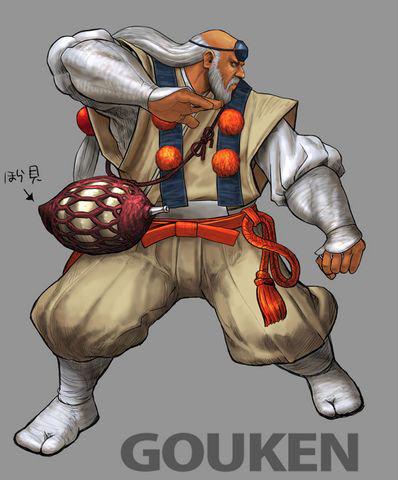 Concept artwork for Gouken's new alternative costume in Super Street Fighter 4