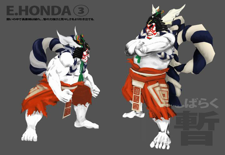 Concept artwork for E. Honda's new alternative costume in Super Street Fighter 4