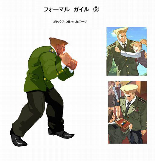 Concept artwork for Guile's new alternative costume in Super Street Fighter 4