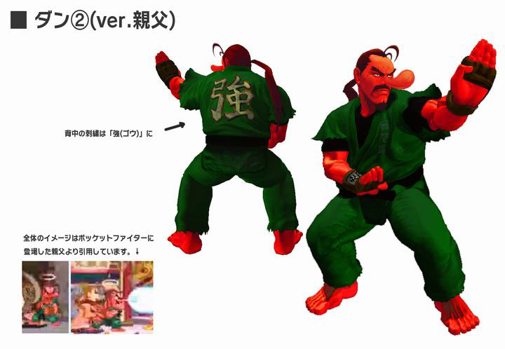 Concept artwork for Dan's new alternative costume in Super Street Fighter 4
