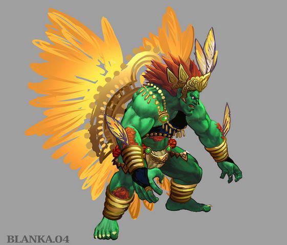 Concept artwork for Blanka's new alternative costume in Super Street Fighter 4