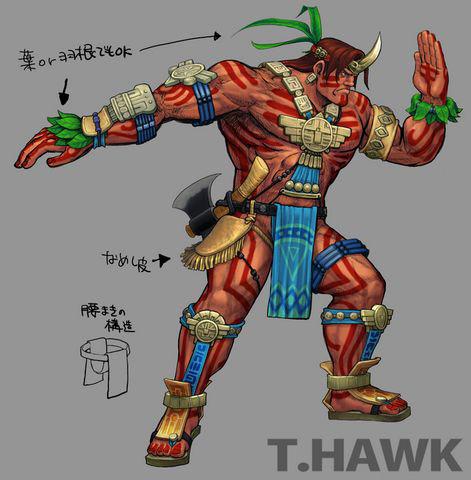 Concept artwork for T. Hawk's new alternative costume in Super Street Fighter 4