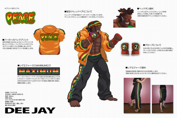 Concept artwork for Dee Jay's new alternative costume in Super Street Fighter 4