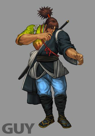 Concept artwork for Guy's new alternative costume in Super Street Fighter 4