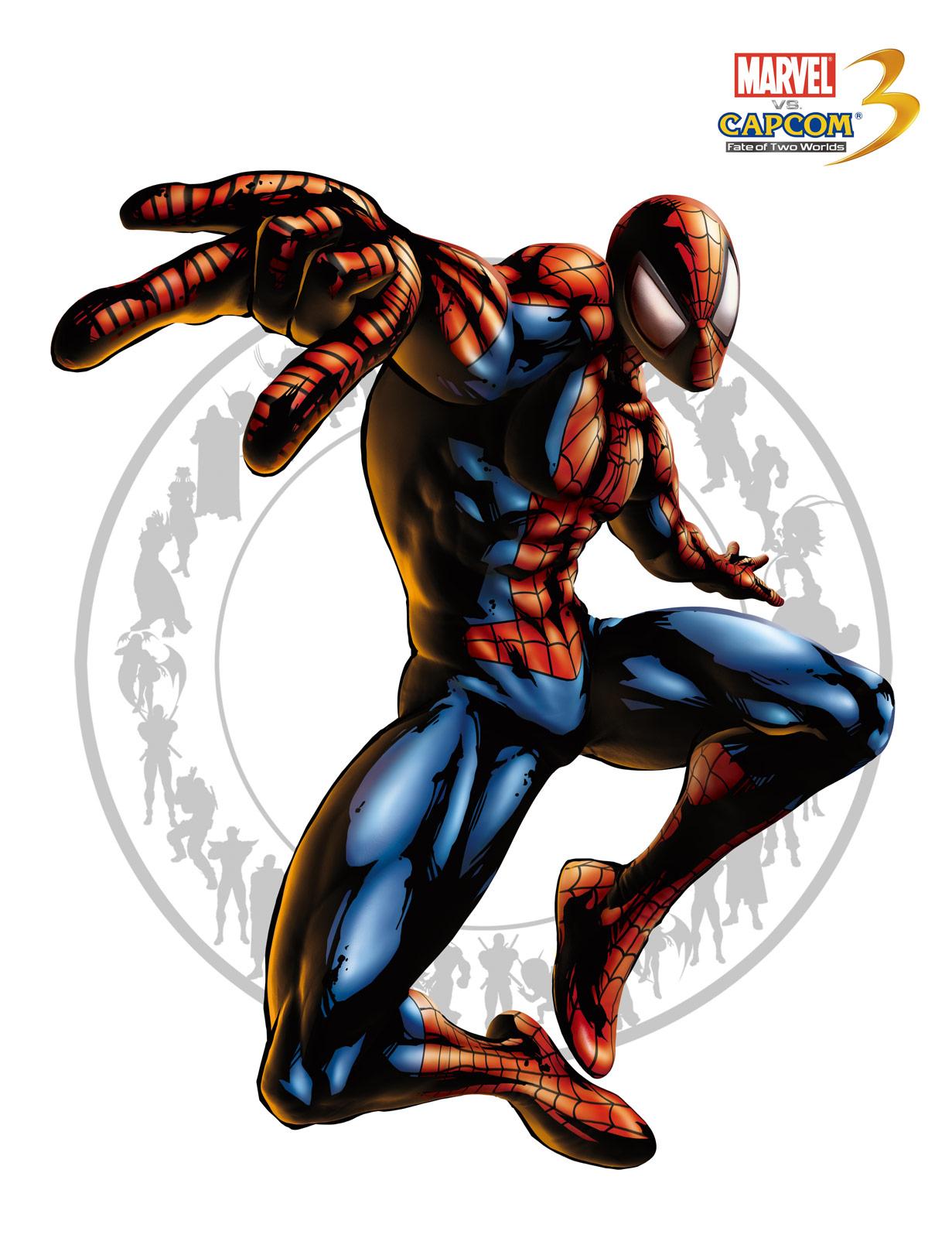 Spider-man artwork for Marvel vs. Capcom 3