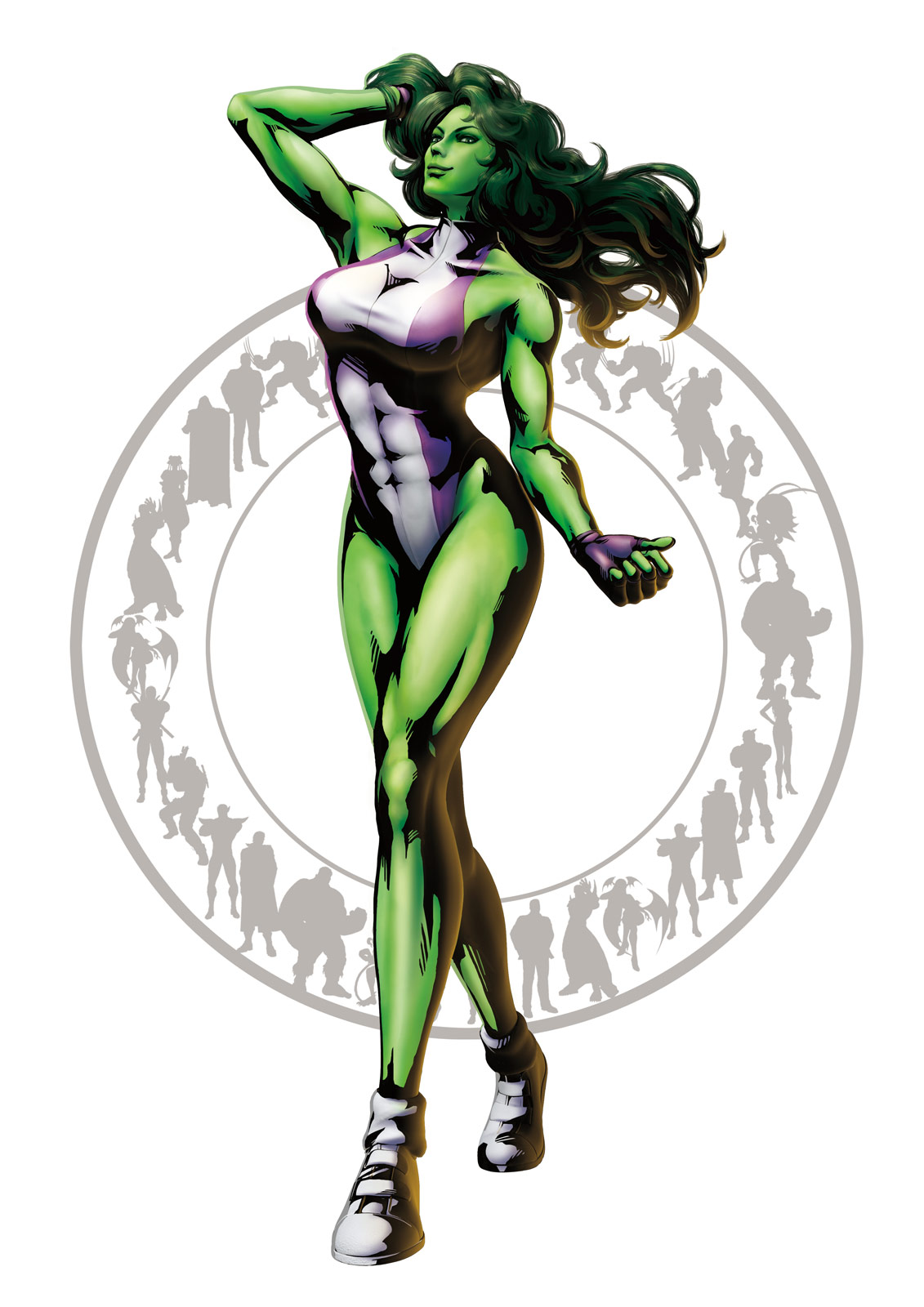 Official She-Hulk artwork for Marvel vs. Capcom 3