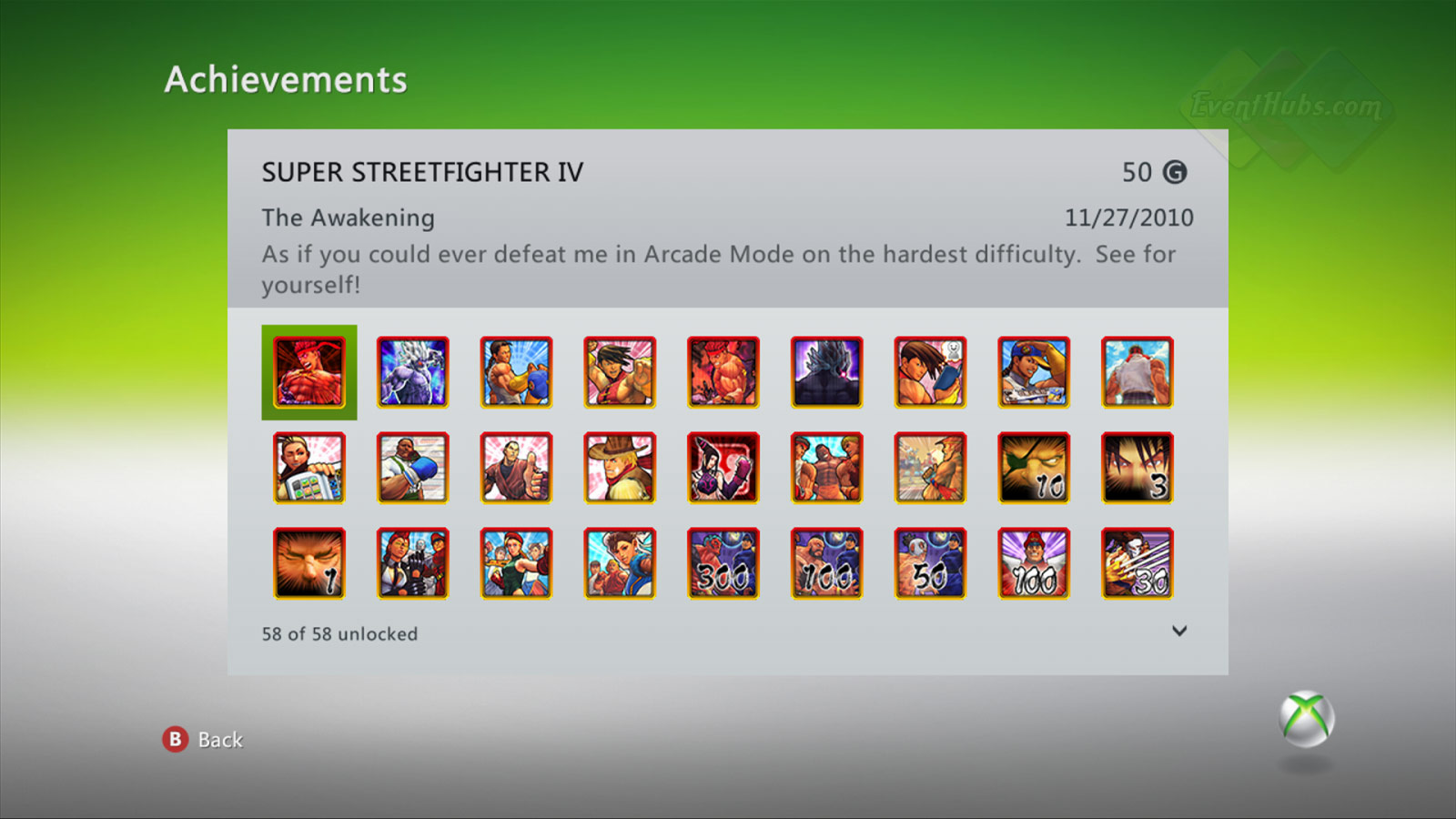 New achievements for Super Street Fighter 4 on the Xbox 360 image #1