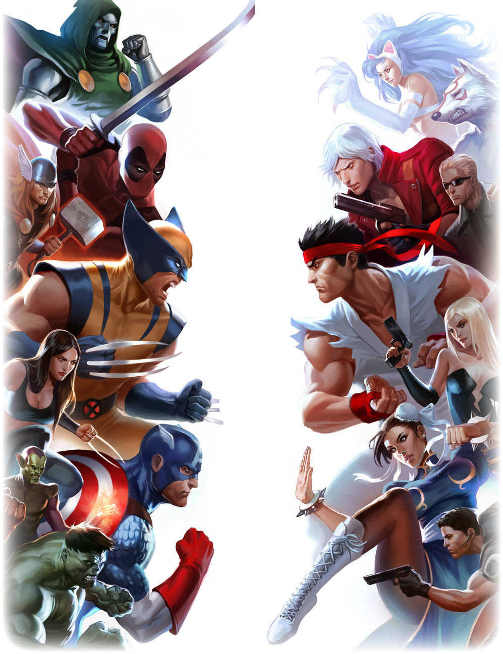 New Marvel vs. Capcom 3 character collage artwork