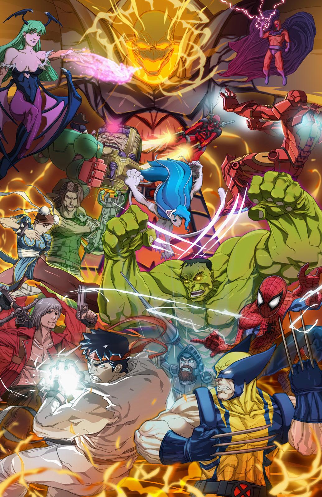 Marvel vs. Capcom 3 Europe fan art contest Italy winner
