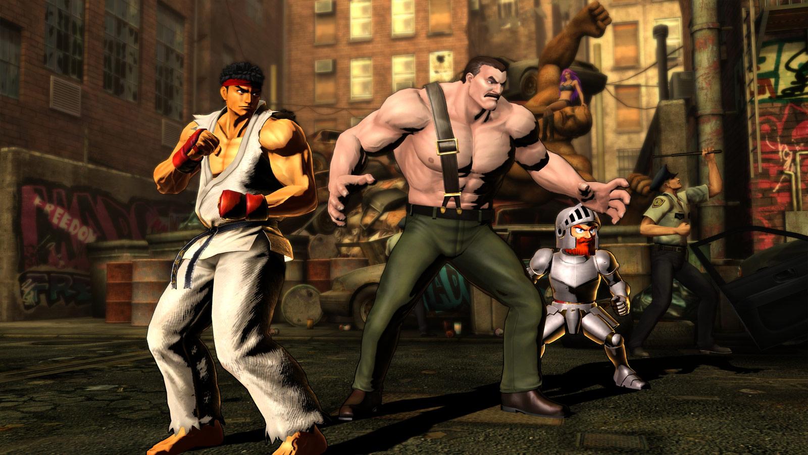 Phoenix and Haggar screen shots for Marvel vs. Capcom 3 #1