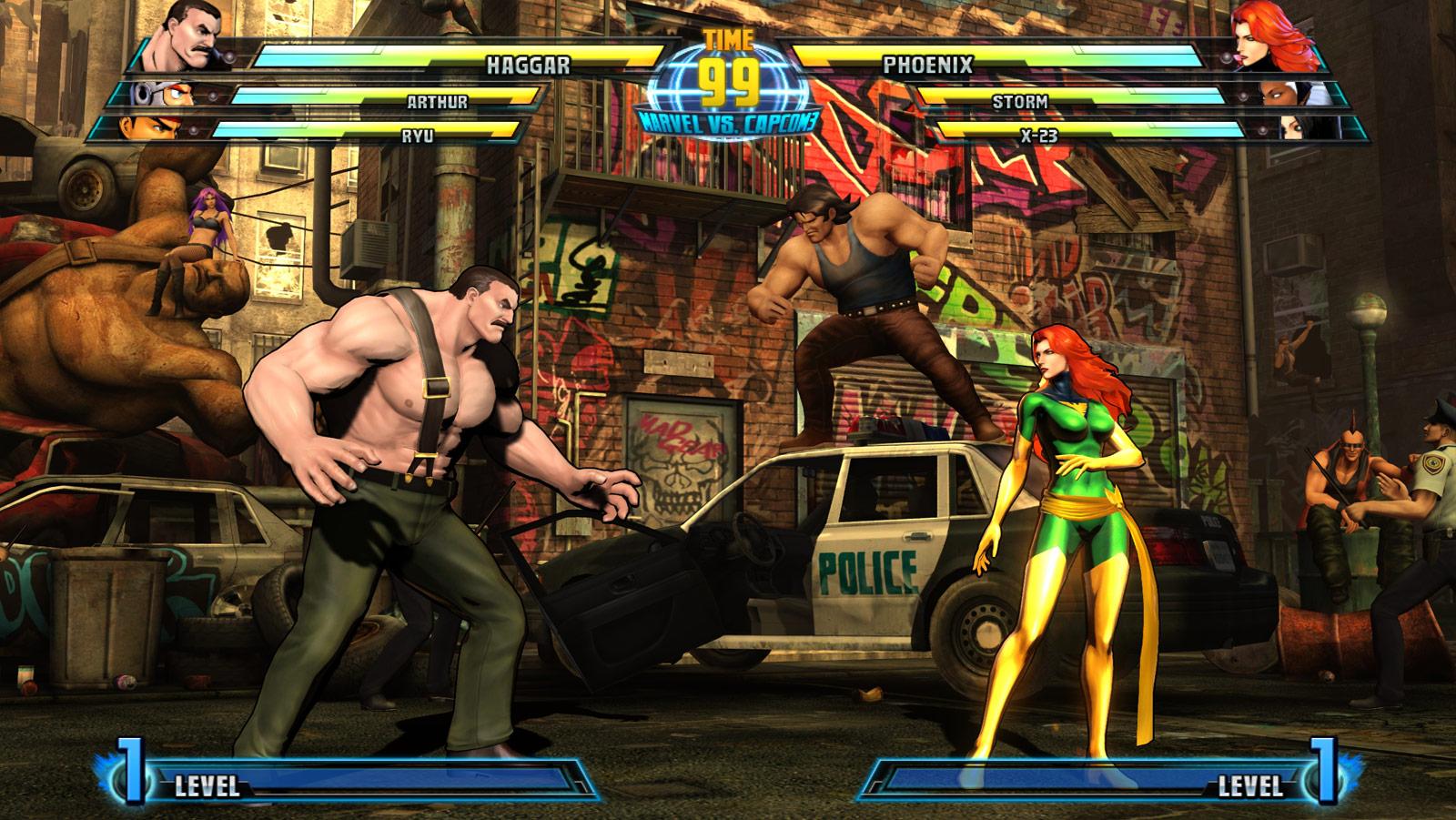Phoenix and Haggar screen shots for Marvel vs. Capcom 3 #3